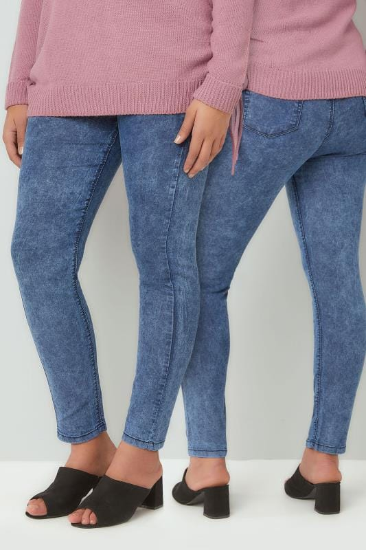 Jeggings Blue Acid Wash Skinny JENNY Jeggings 142111