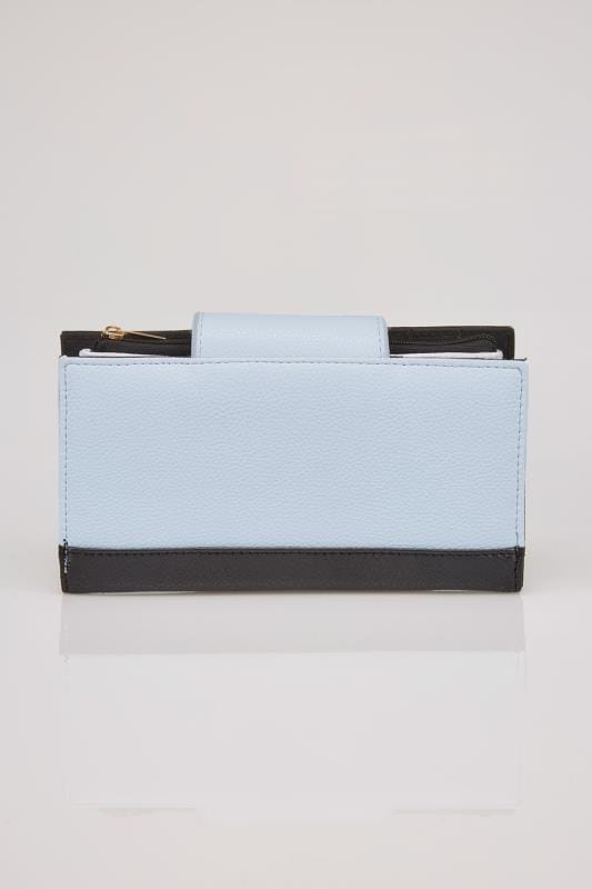 Blue & Black Large Colour Block Purse