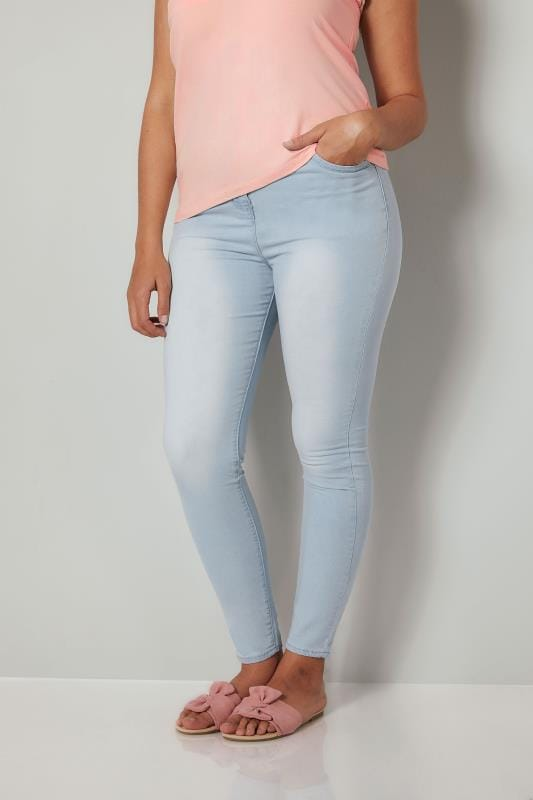 Blue Bleach Wash Skinny AVA Jeans