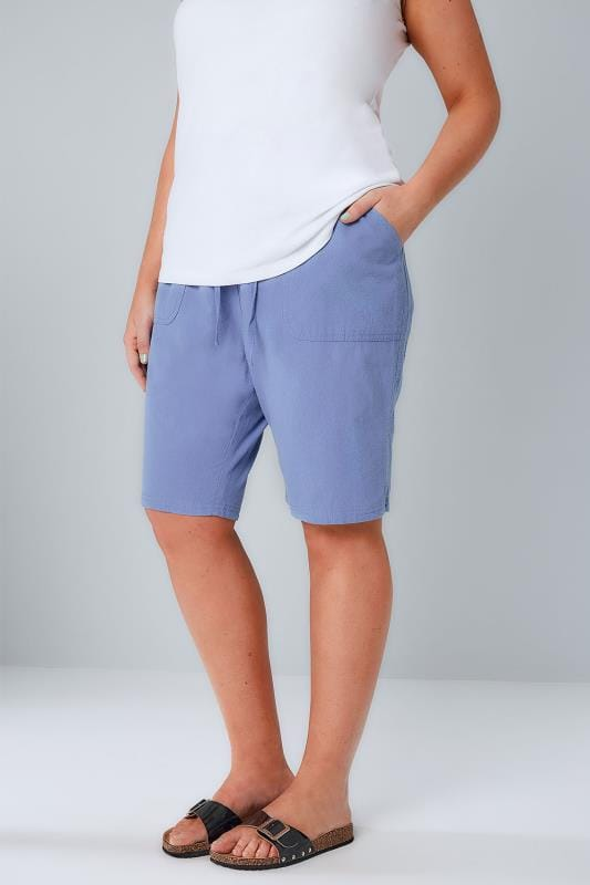 Cool Cotton Shorts Blue Cool Cotton Pull On Shorts With Pockets 144048