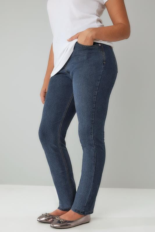 Blue Vintage Wash Straight Leg RUBY Jeans