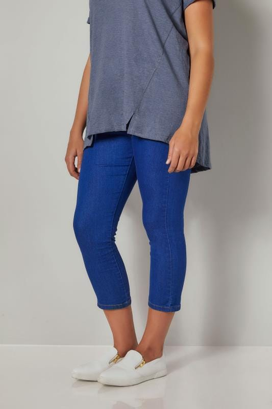 Blue Denim Star Studded Cropped JENNY Jeggings