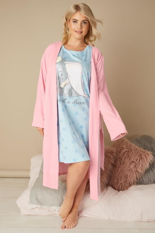 Blue Disney Dumbo & Slogan Print Nightdress