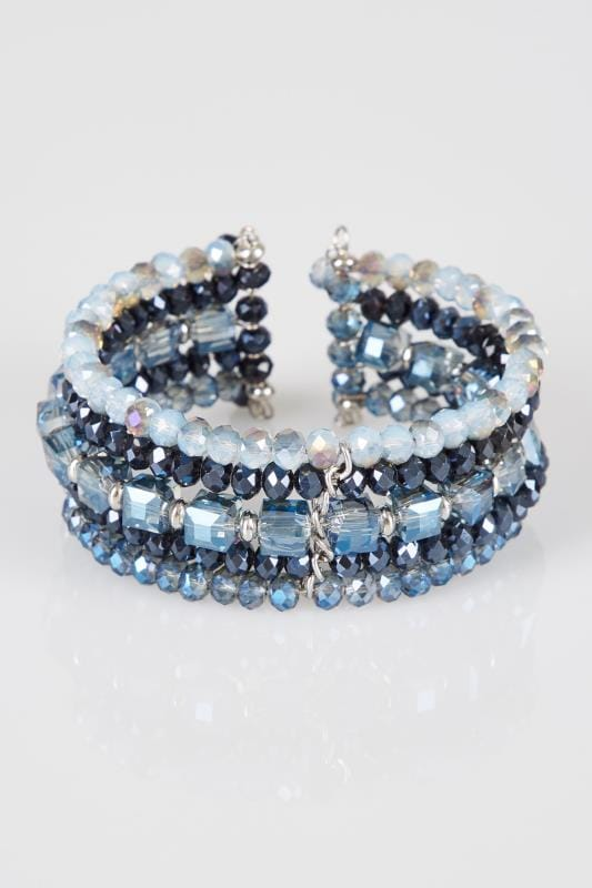 Blue & Navy Beaded Bracelet