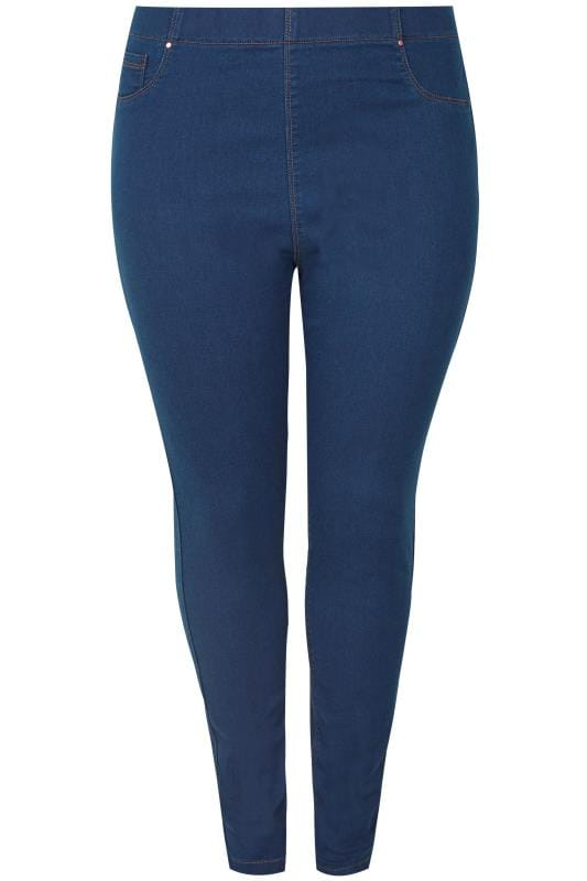 Plus Size Jeggings Blue Pull On JENNY Jeggings