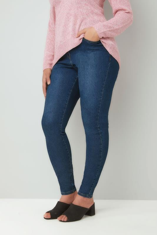 Blue Washed Denim Skinny AVA Jeans