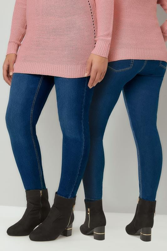Jeggings Blue Washed Ultimate Comfort Stretch JENNY Jeggings 142066