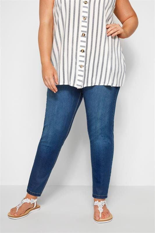 Plus Size Jeggings Blue Washed Ultimate Comfort Stretch JENNY Jeggings