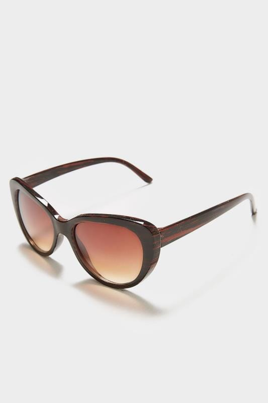 Plus Size Sunglasses Brown Cat Eye Sunglasses With UV Protection