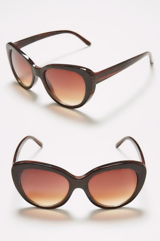 Brown Cat Eye Sunglasses With UV Protection