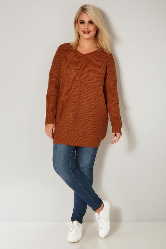 Brown Knitted Jumper With Cross Over Straps