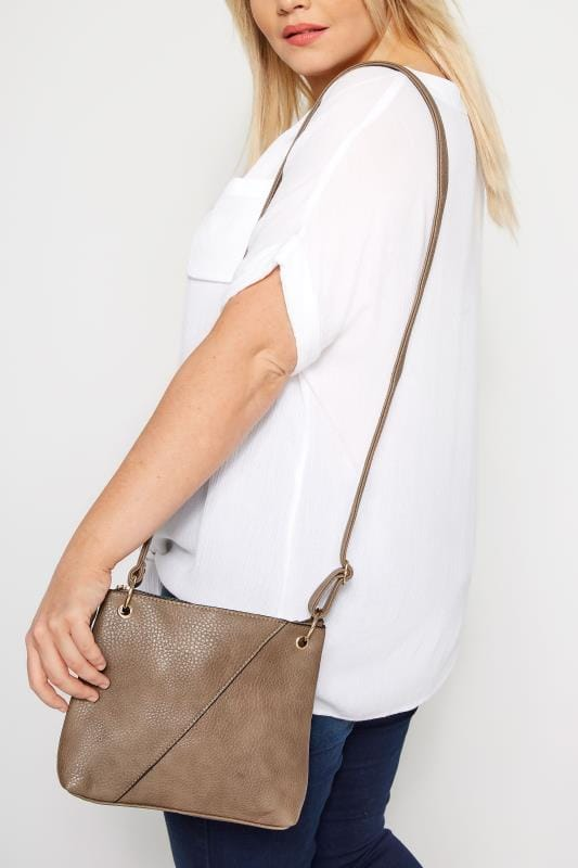 Bags & Purses Brown Seam Cross Body Bag