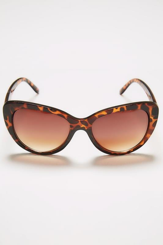 Brown Tortoiseshell Cat Eye Sunglasses With UV Protection