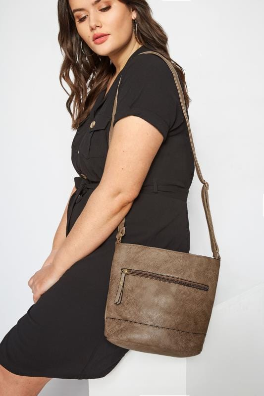 Bags & Purses Brown Zip Cross Body Bag