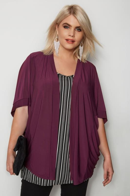 Plus Size Cover Ups Burgundy Cover-Up
