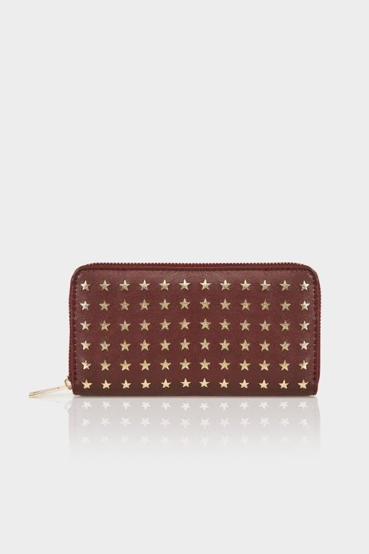 Burgundy & Gold Star Purse