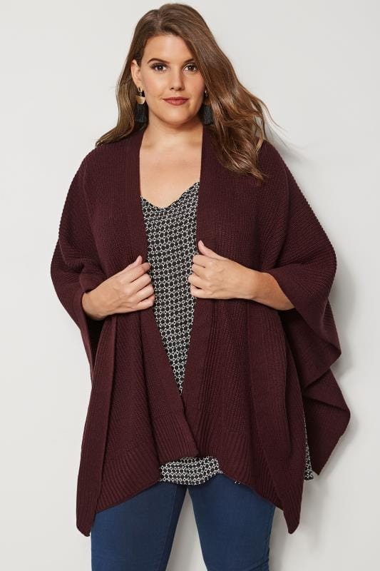 Burgundy Knitted Wrap