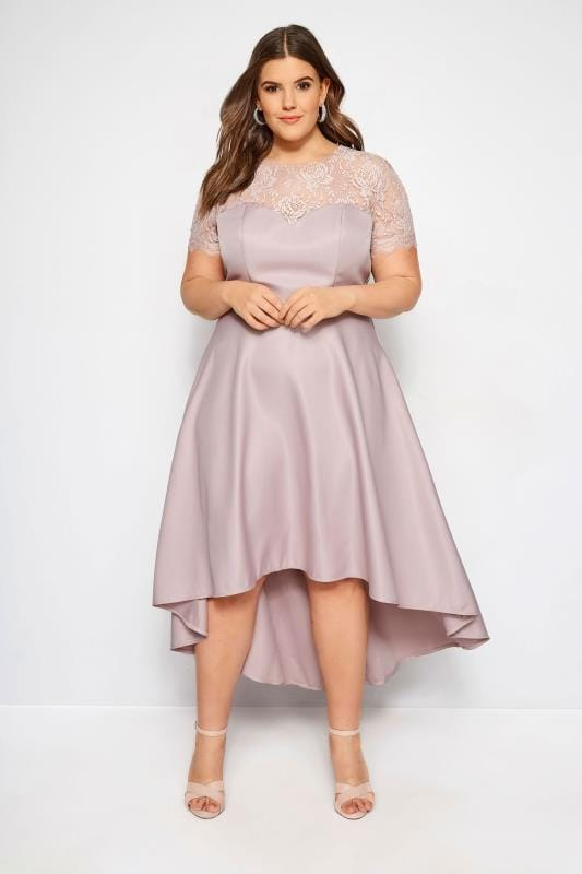 ba2dab67058 Plus Size Evening Dresses CHI CHI Dusky Pink Jasper Dress