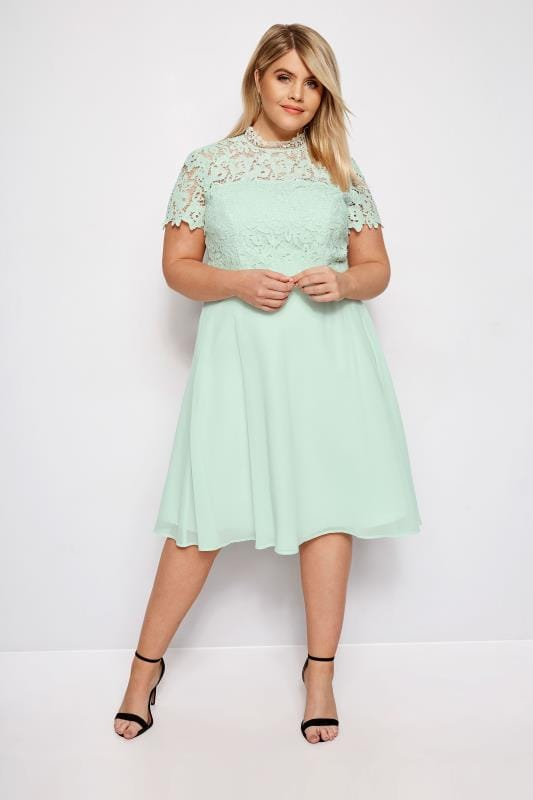 c3b2ddc4e4 Plus Size Floral Dresses CHI CHI Mint Green Sonny Dress