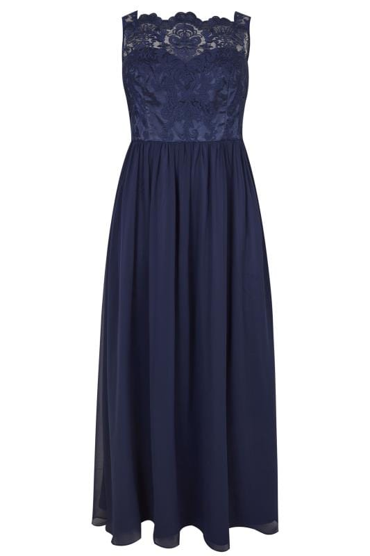Plus Size Maxi Dresses CHI CHI Navy Maxi Dress