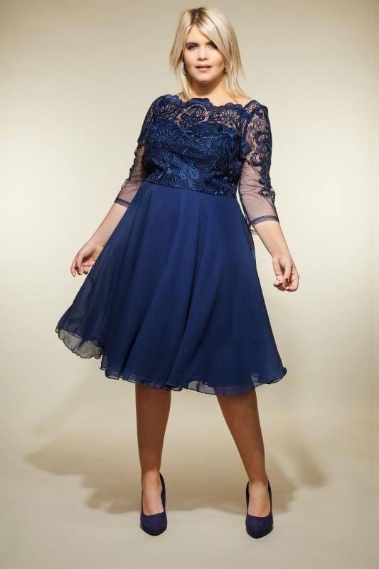 CHI CHI Navy Mya Dress
