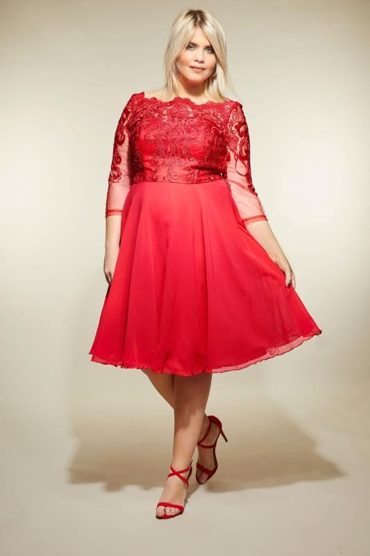 Plus Size Party Dresses CHI CHI Red May Dress