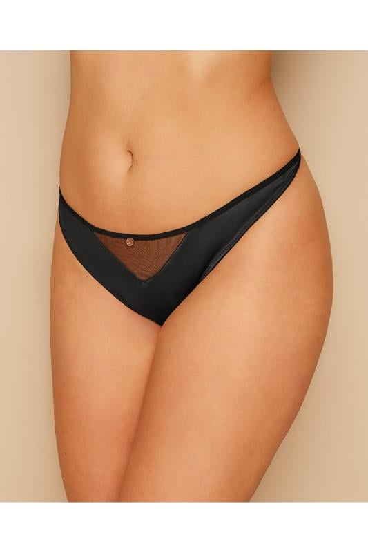CURVY KATE Black Peek-A-Boo Thong