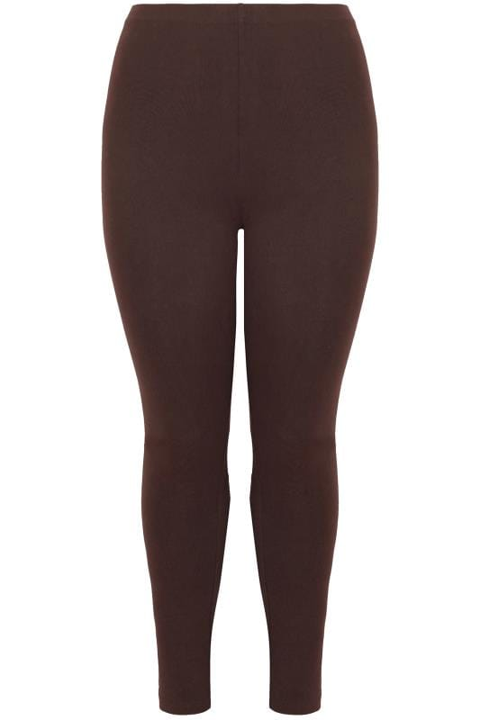 Chocolate Brown Viscose Elastane Leggings