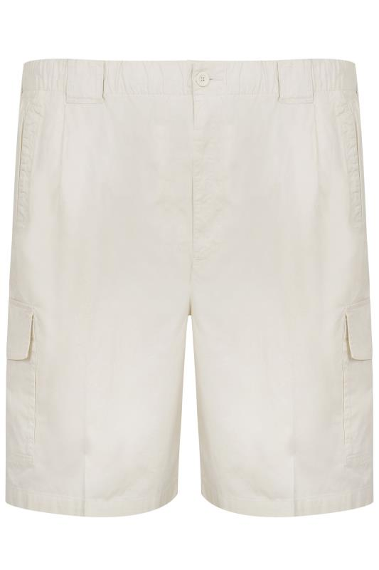 Cream CargoShorts With Elasticated Waist Band