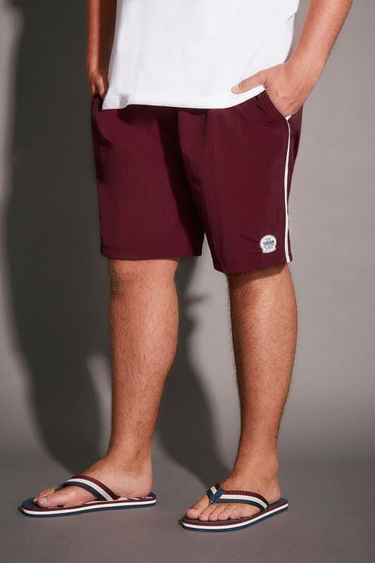 D555 Burgundy Full Length Swim Short