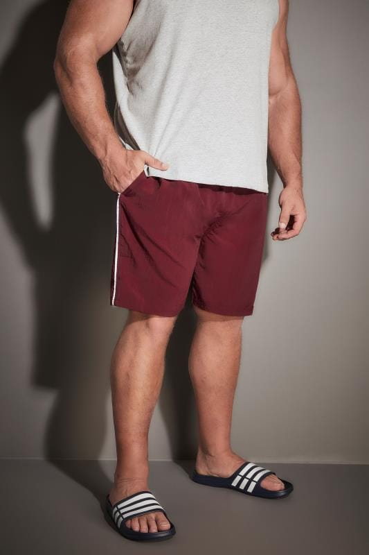 Swim Shorts D555 Burgundy Full Length Swim Short 057685