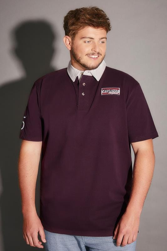 D555 Burgundy Nash Polo Shirt With Badge