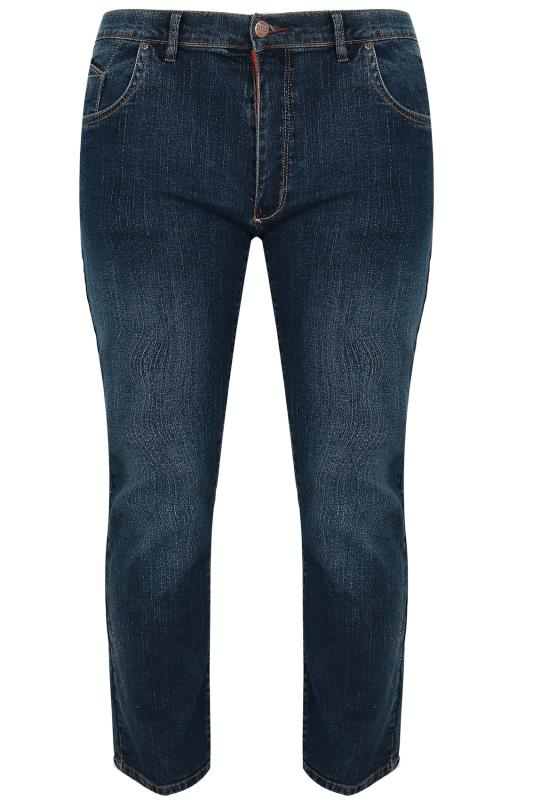 D555 Dark Blue Tapered Leg Denim Jeans