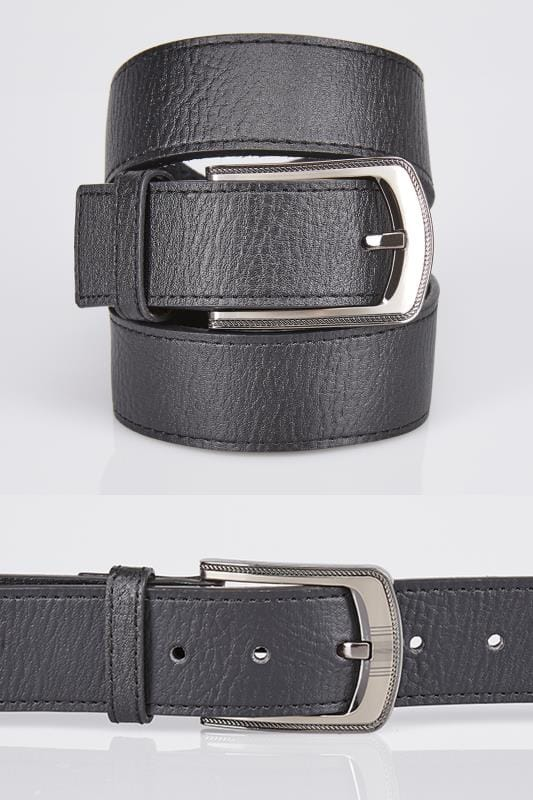 Belts & Braces D555 King Size Wide Black Bonded Leather Belt 057689