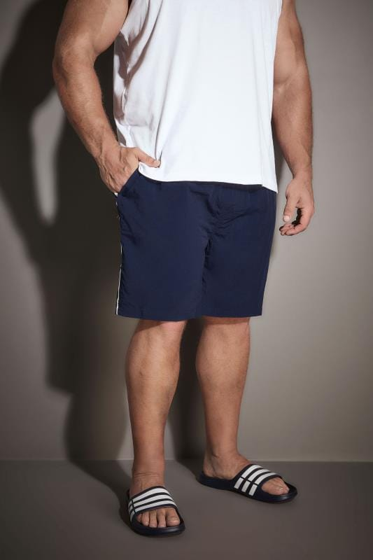 Swim Shorts D555 Navy Full Length Swim Short 057686