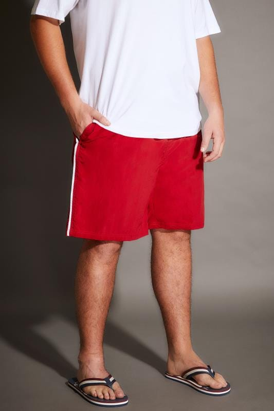 Swim Shorts D555 Red Full Length Swim Short 057687