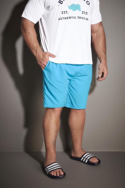 D555 Turquoise Full Length Swim Short