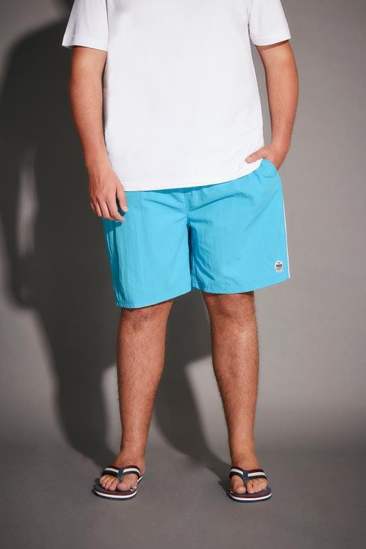 Swim Shorts D555 Turquoise Full Length Swim Short 057684