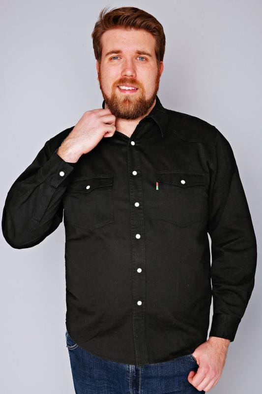 Casual Shirts DUKE Black Denim Shirt 070401