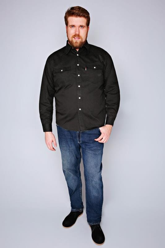 DUKE Black Denim Shirt