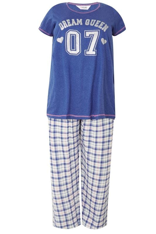 Dark Blue 'Dream Queen' Pyjama Set