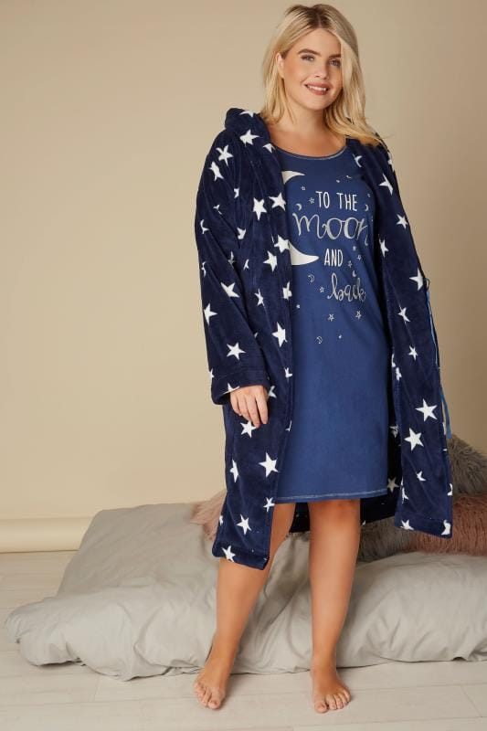 Dark Blue 'To The Moon And Back' Nightdress