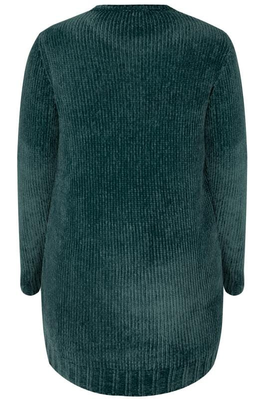 Dark Green Chenille Jumper
