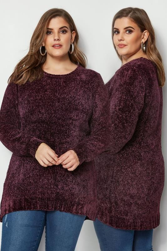 Dark Purple Chenille Jumper
