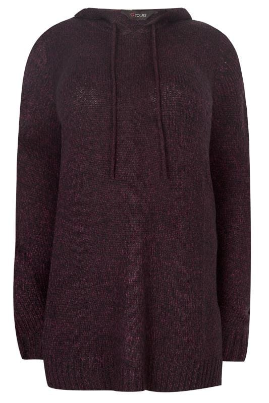 Dark Purple Knitted Hoodie