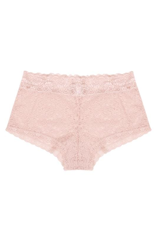 M/&S Autograph Size 24 Swiss Designed Embroidery High Leg Briefs Knickers Pink