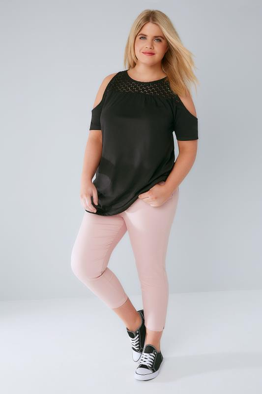Dusty Pink Cropped Denim Jeggings