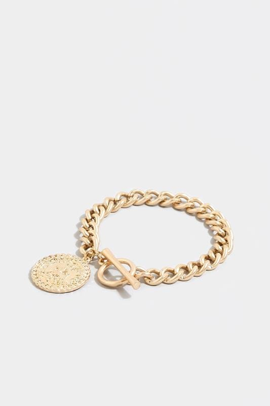 Plus Size Jewelry Gold Chain Coin Bracelet