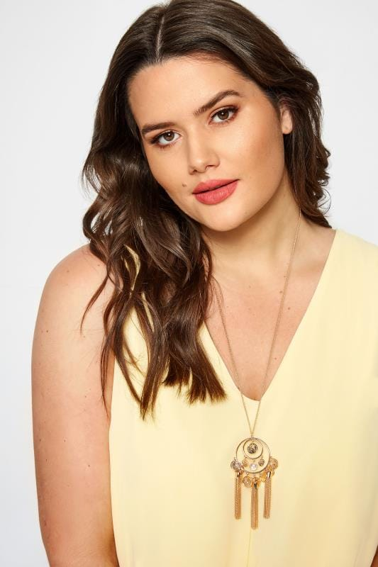 Plus Size Jewellery Gold Coin Tassel Necklace