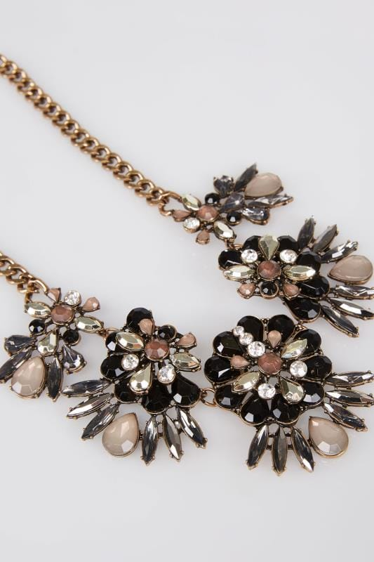 Gold Jewel Floral Necklace